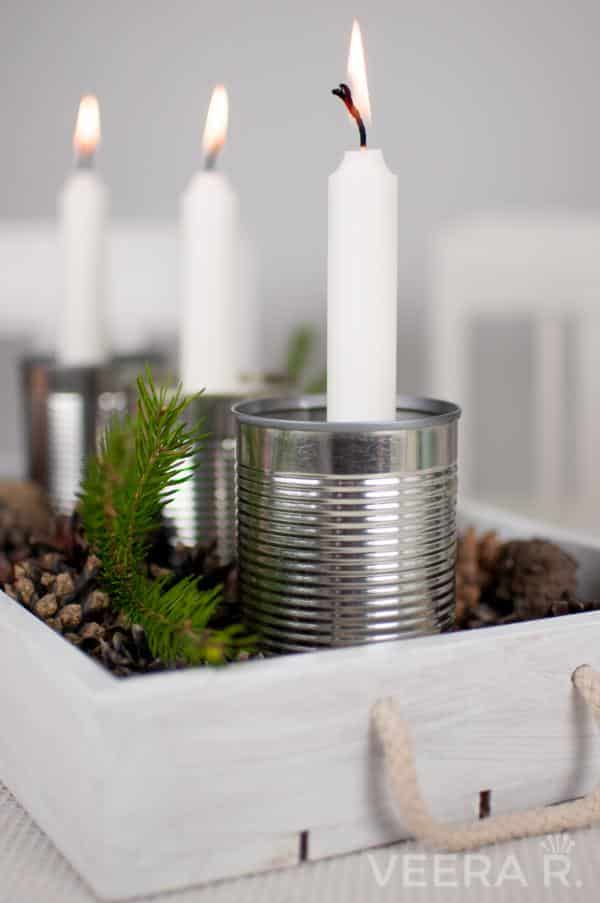 candle holders diy tin hacks