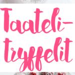 Taatelitryffelit | Vegaaninen | Raaka | Joulu | Resepti | Sokeriton