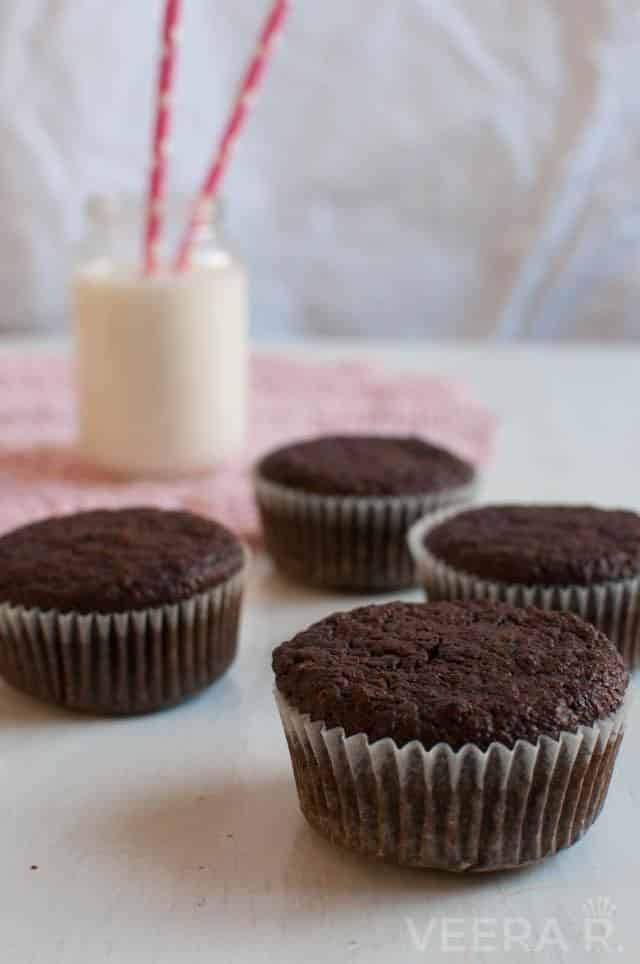 Gluten free beetroot chocolate muffins.