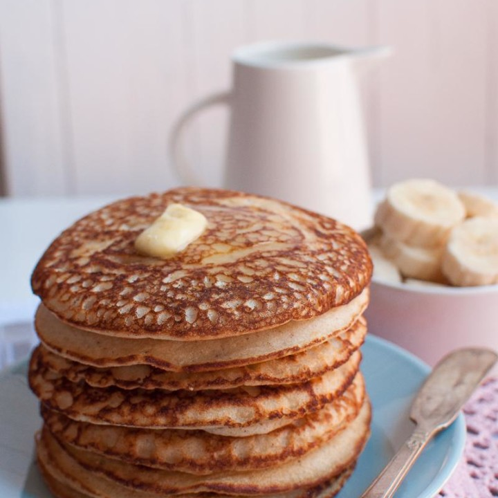 Gluten and sugar free buckwheat buttermilk pancakes. The best pancakes ever.