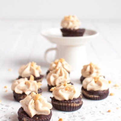 Butterscotch Chocolate Cups with Peanut Butter Frosting