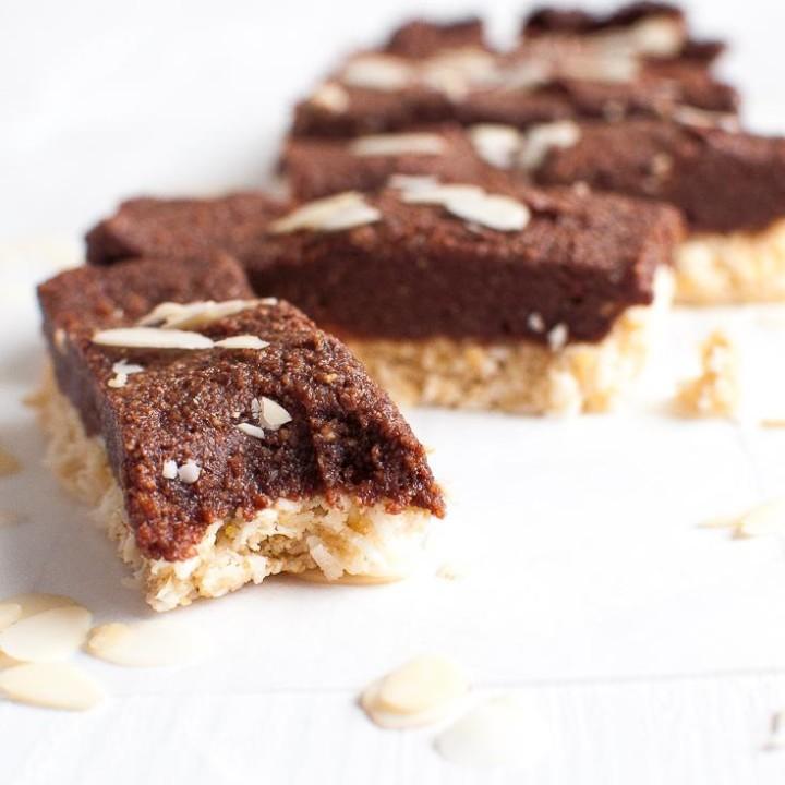Coconut Almond Chocolate Bars | Sugar Free Treats | Gluten Free | Vegan