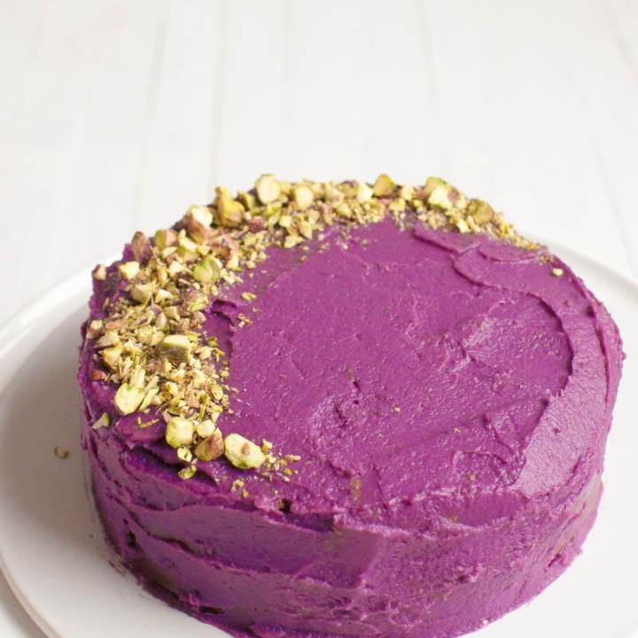 Viljaton suklaakakku | Liila bataatti | Purppura bataatti | Viljaton | Sokeriton | Gluteeniton
