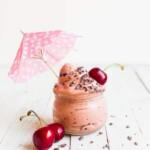 Vegaaninen Kirsikka Nice Cream | Terveellinen jäätelö | Maidoton jäätelö | Kirsikkajäätelö