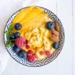 Samettinen mangotuorepuuro   Terveellinen aamupala