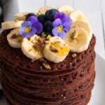 Vegaaniset ja gluteenittoman suklaapannukakut
