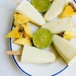 Vegaaniset ananas-limejäätelöpuikot